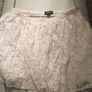 Allen B white lace miniskirt